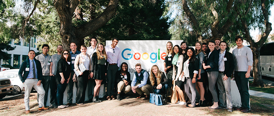 Students visiting Google HQ with Career trek